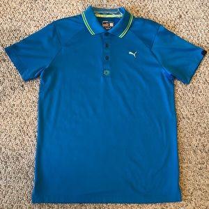 Puma Golf Shirt blue size medium